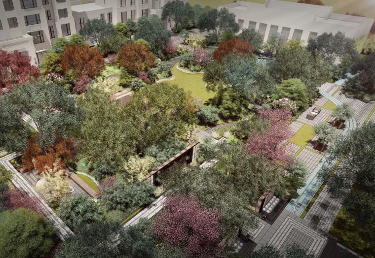 [山东]新中式高端豪宅景观提升方案