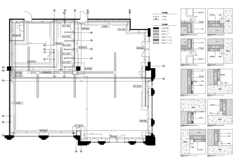 [南京]243㎡进口服装专卖店室内施工图