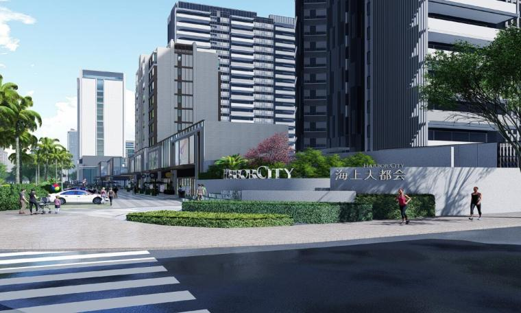 [海南]现代都市气息大都会景观方案文本-01 效果图