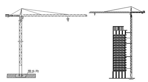 框剪结构高层住宅工程安全文明施工方案-10 塔吊基础示意图