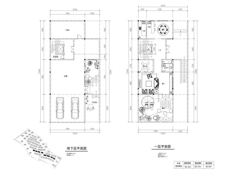 8套类独栋别墅平面户型设计(CAD)