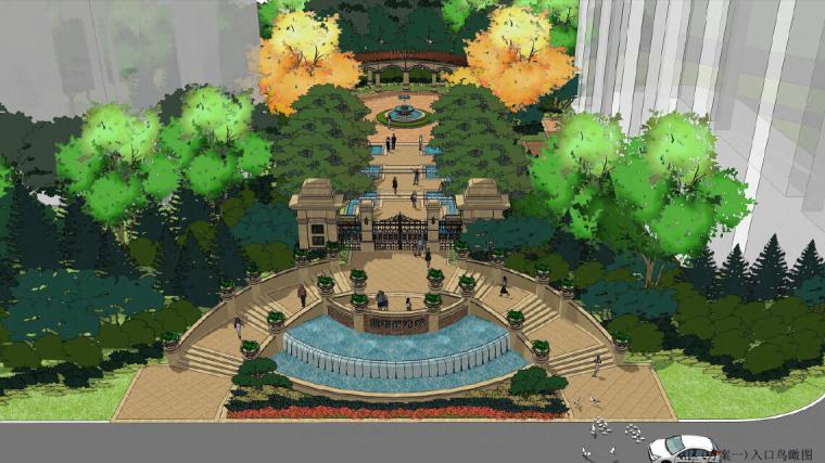 [山东]青岛欧式风情滨海商住区景观设计方案