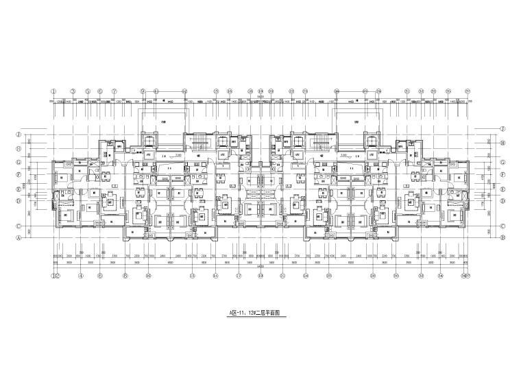 34套小高层住宅三室户户型图设计(8~15层)