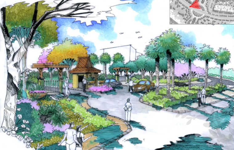 [海南]三亚现代典雅居住区景观设计方案