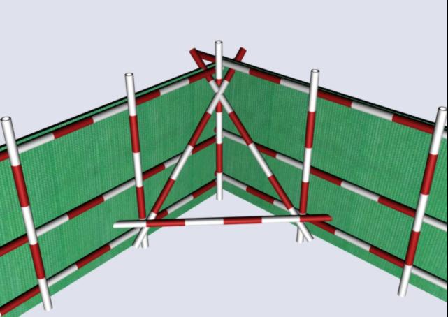 48防护栏杆转角处斜拉杆的设置图