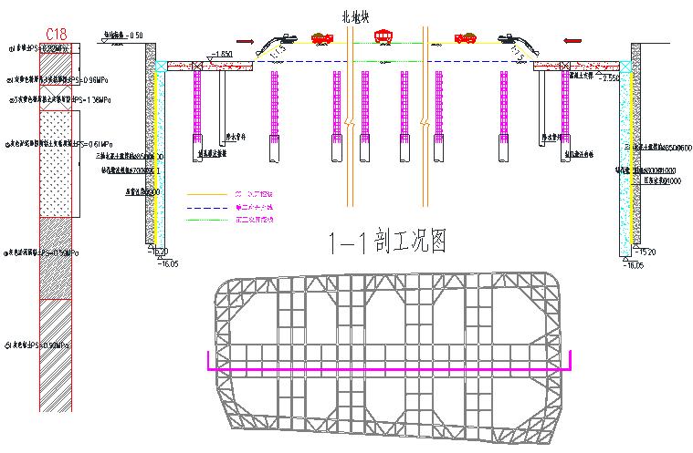 钻孔灌注桩+三轴搅拌桩止水帷幕施工方案