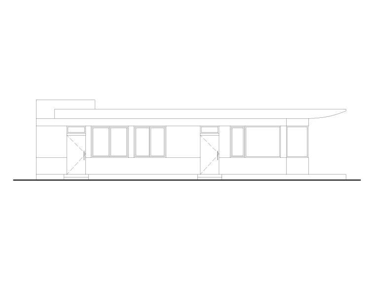 75.9㎡门卫传达室施工图设计