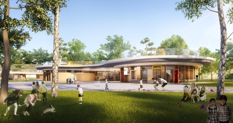 现代流线风格幼儿园建筑方案设计