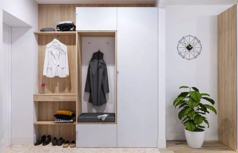 门厅鞋柜+衣柜的设计,实用又上档次