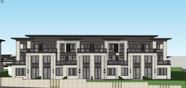 中式别墅建筑模型设计