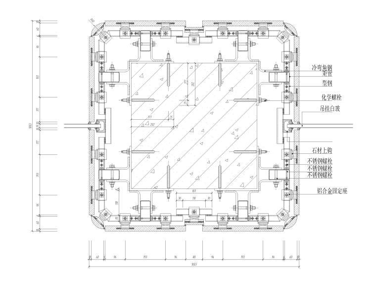 详细的石材柱节点详图CAD