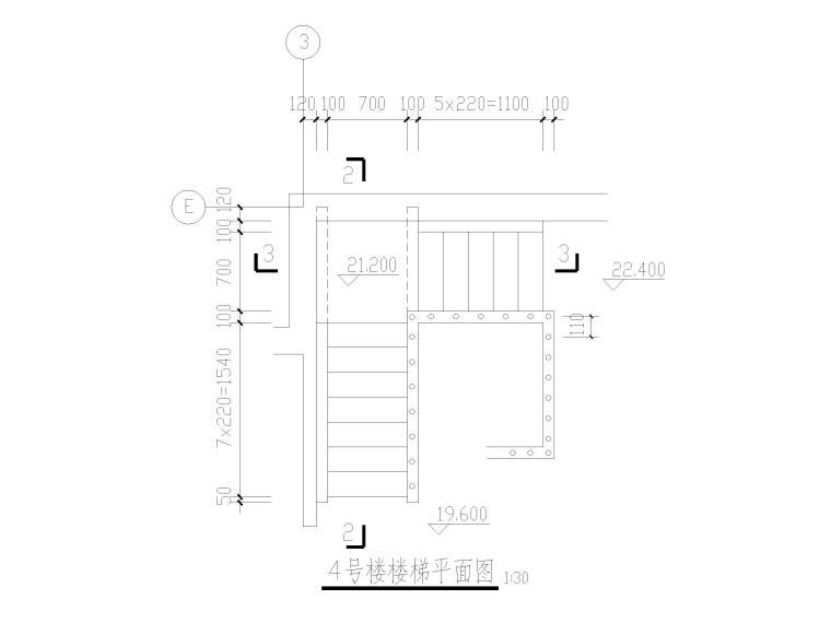 木楼梯节点大样详图CAD