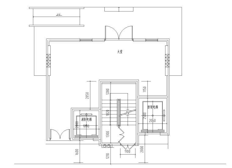 高层户型图-4种核心筒及大堂设计