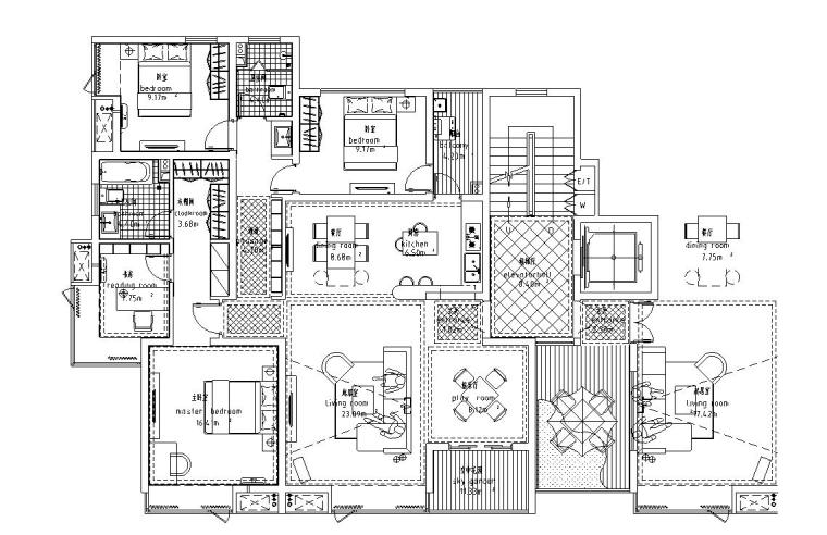 高层户型图-城建户型汇总-高层户型图- 城建户型汇总 (4)