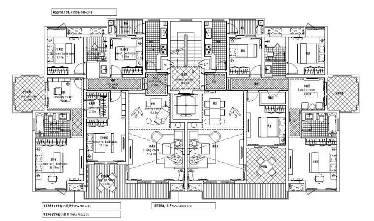 高层户型图-城建户型汇总-高层户型图- 城建户型汇总 (3)
