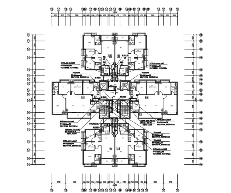 广东省50层商业住宅电气施工图(2016)