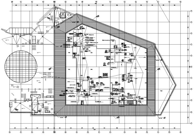 北京密云大型商业及办公楼电气施工图