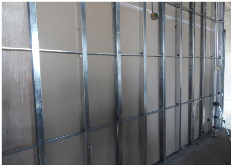 41轻钢龙骨隔墙工程
