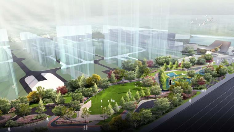 欧式独栋二层滨水资料下载-[河南]滨水城市公园住宅景观方案设计