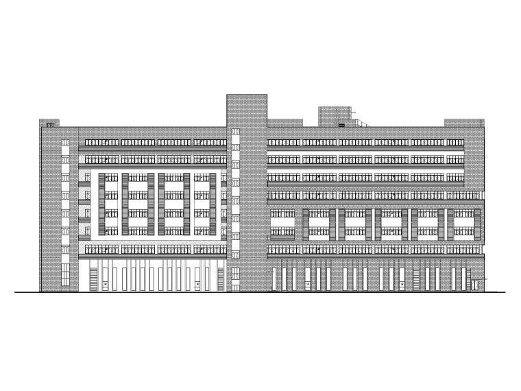 职业学院综合实训楼建筑施工图(含人防)