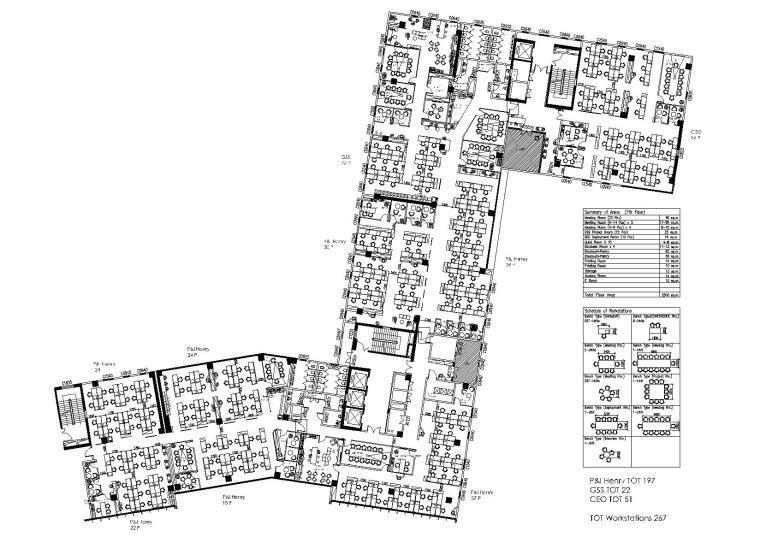 [成都]2000㎡二层现代办公空间施工图+实景