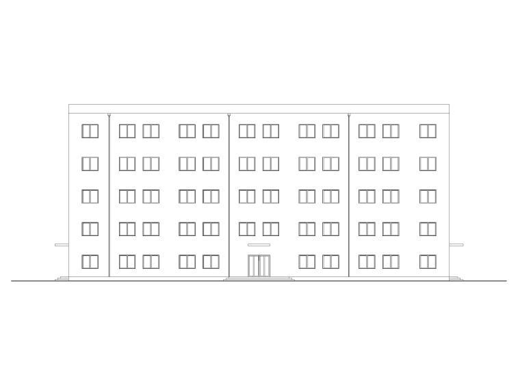 湖滨多层框架结构中学教学楼设计建筑扩初图
