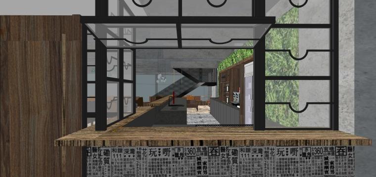 [上海]现代香港办公室施工图+SU模型+效果图-设计脑 (2)