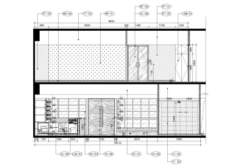[上海]现代香港办公室施工图+SU模型+效果图-7,8层立面图