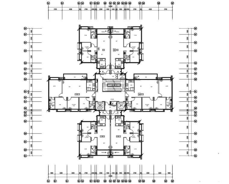32层高层住宅强弱电消防施工图