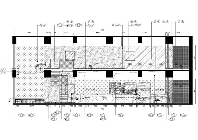 [上海]现代香港办公室施工图+SU模型+效果图-7,8层立面图2