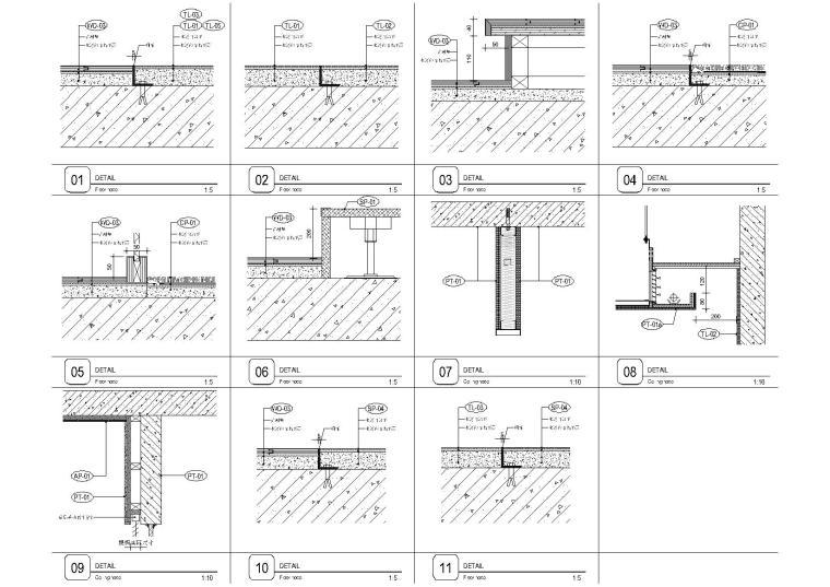 [上海]现代香港办公室施工图+SU模型+效果图-卫生间节点图