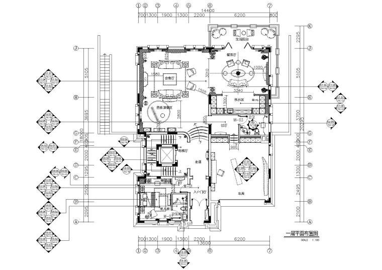 [成都]660㎡二层巴洛克风别墅样板间施工图