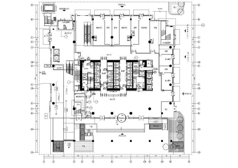 [广东]广州某国际中心办公楼施工图_效果图