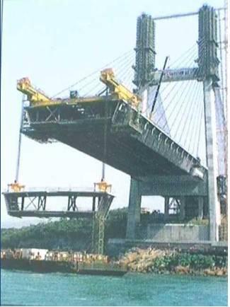 钢桁梁整体节段安装施工工艺
