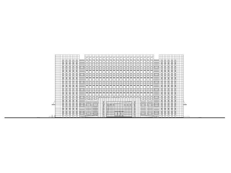 商务中心七层办公楼建筑施工图