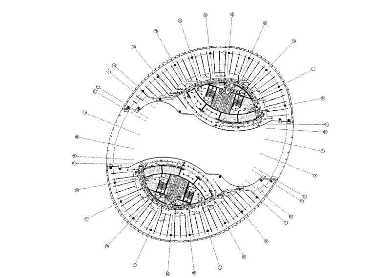 [北京]17万平SOHO办公商业楼电气图纸