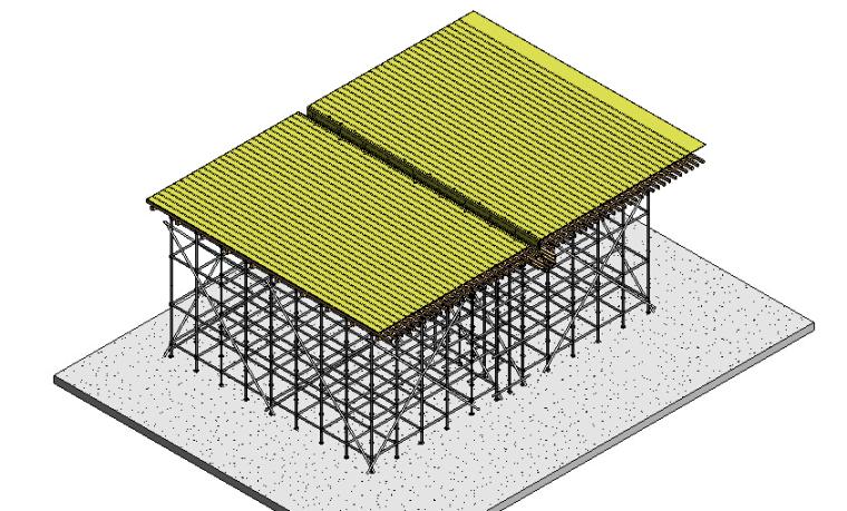 框架核心筒结构高层住宅工程高支模施工方案-82脚手架搭设
