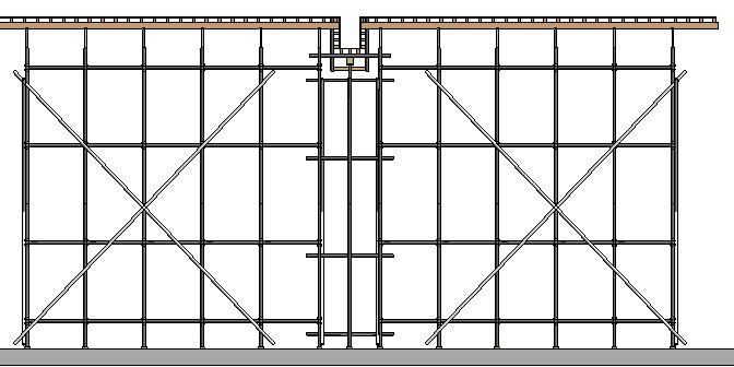 框架核心筒结构高层住宅工程高支模施工方案-85架体支撑效果图