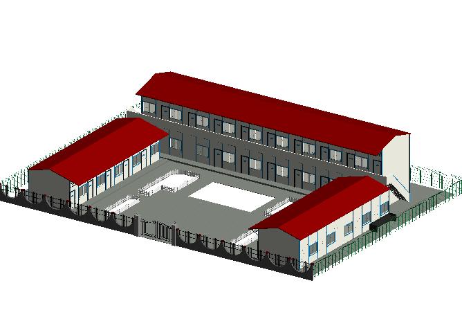 施工现场项目部Revit模型(Revit2014)