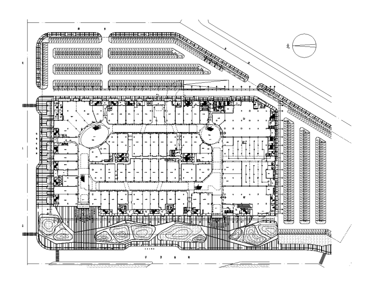 知名大型广场全套机电施工图 22项弱电系统
