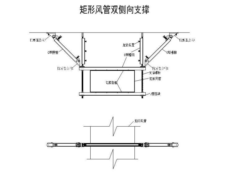 暖通空调工程抗震支吊架大样图CAD