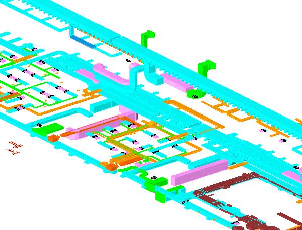 广州机场北指廊暖通专业Revit模型