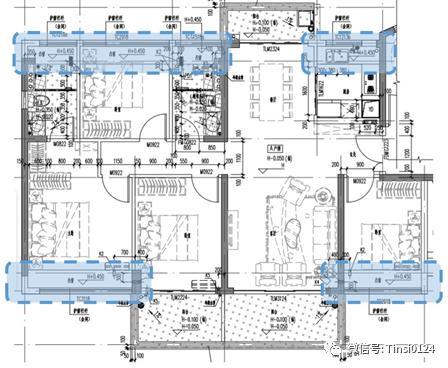 住宅户型设计——常见的面积赠送方式
