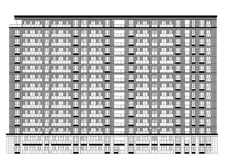 高端商品高层住宅建筑施工图(14-15层)