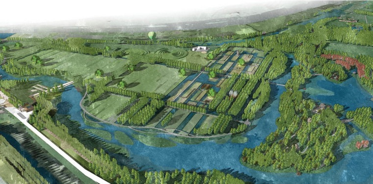 [山东]本土特色湿地公园田园区景观深化方案