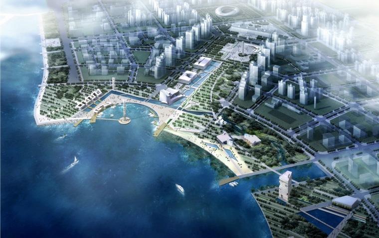 [广东]现代滨海广场与休闲公园景观设计方案