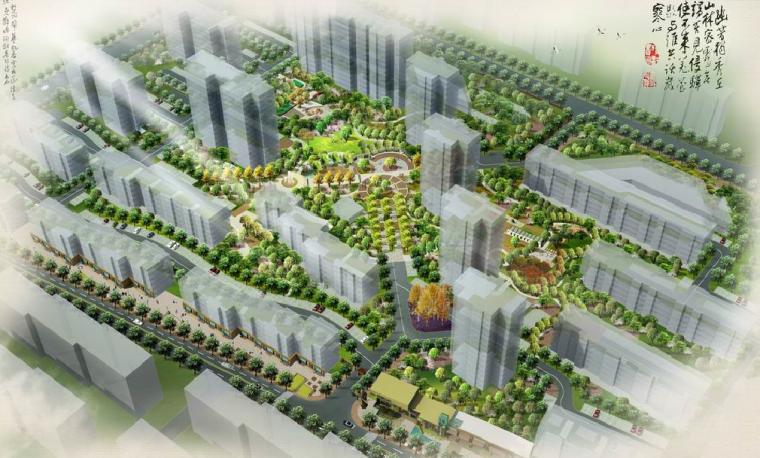 """[北京]""""纯美印画""""居住区景观设计方案"""