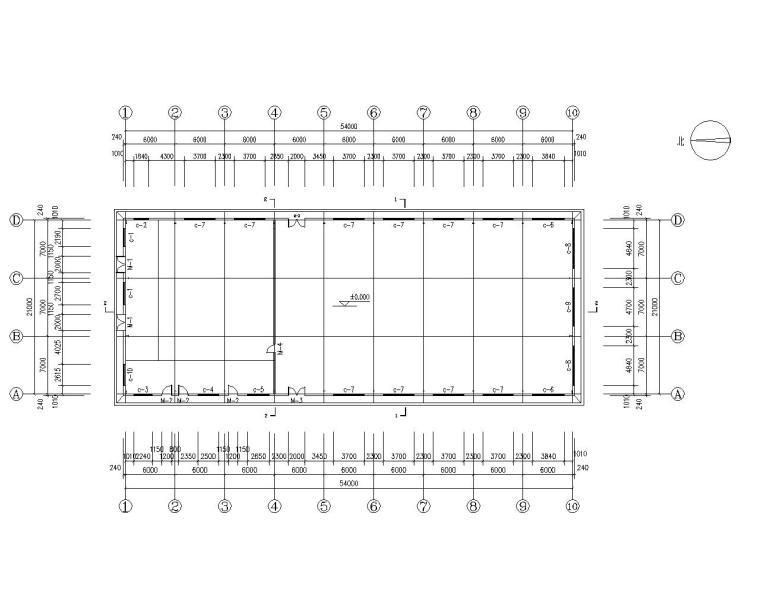 某钢结构餐厅施工图(CAD含建筑图)