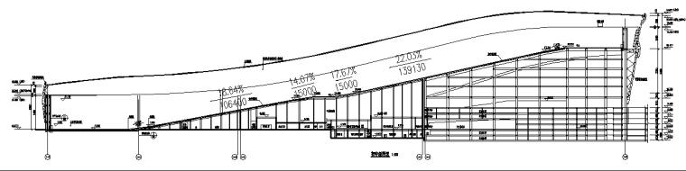 水雪综合体工程高大模板支撑体系施工方案-20初中级滑道剖面