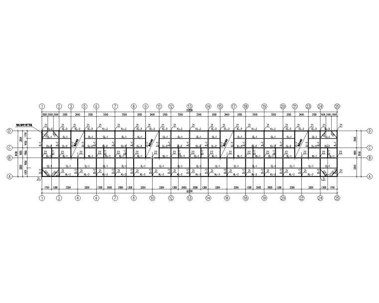 某临时三层周转房钢结构施工图(CAD)
